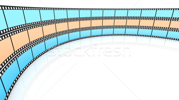 Colored 3d blank films Stock photo © ijalin