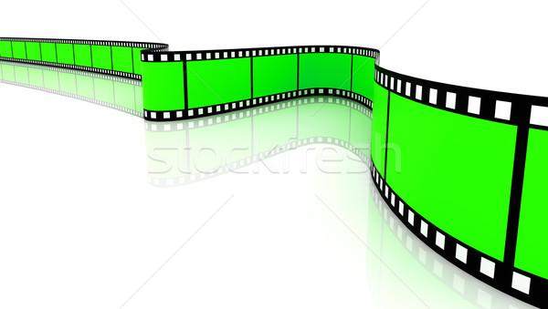 Színes 3D filmek film fehér keret Stock fotó © ijalin