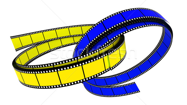 Twee 3D films ring ringen witte Stockfoto © ijalin