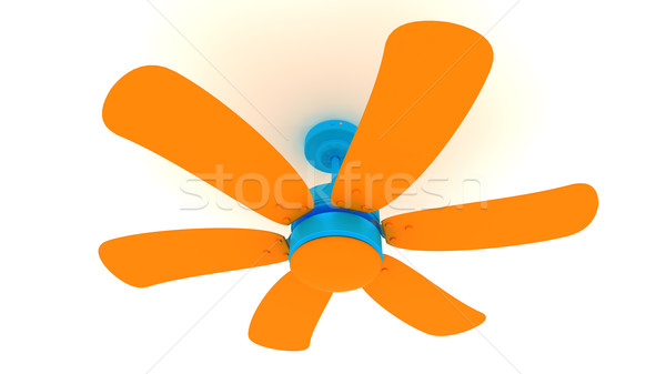 Orange 3D Fan Stock photo © ijalin