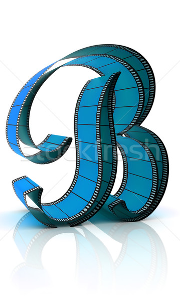 ábécé film izolált fehér művészet kék Stock fotó © ijalin