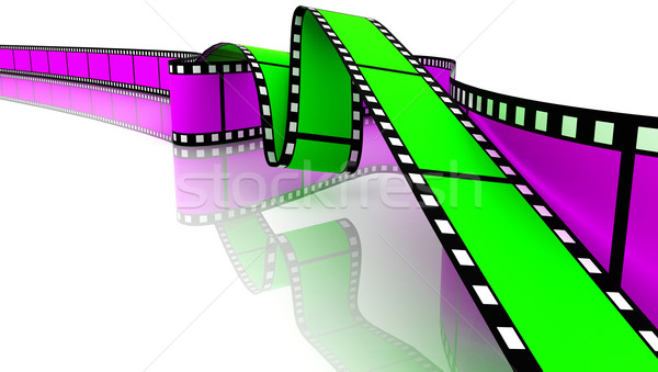 Green and magenta 3d blank films Stock photo © ijalin