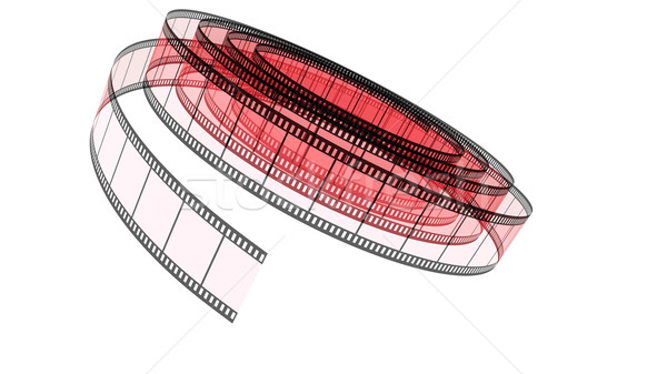 Red Segment color film rolled down Stock photo © ijalin