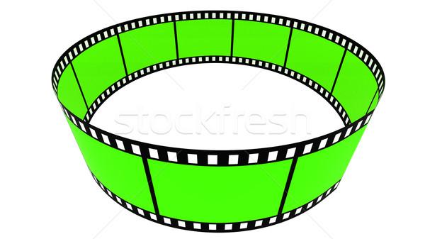3D films anneau vert blanche design Photo stock © ijalin