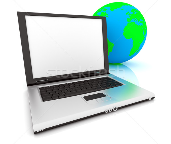 3D Web Icon - Internet Stock photo © ijalin