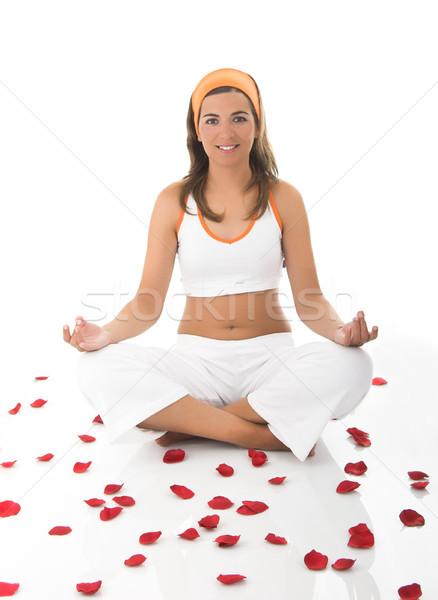 瞑想 美人 瞑想 女性 美 夏 ストックフォト © iko