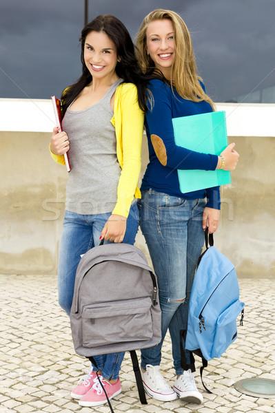 Teenage students Stock photo © iko