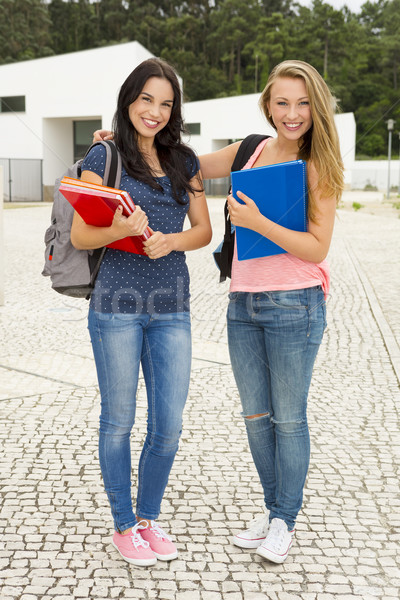 Teenage students Stock photo © iko