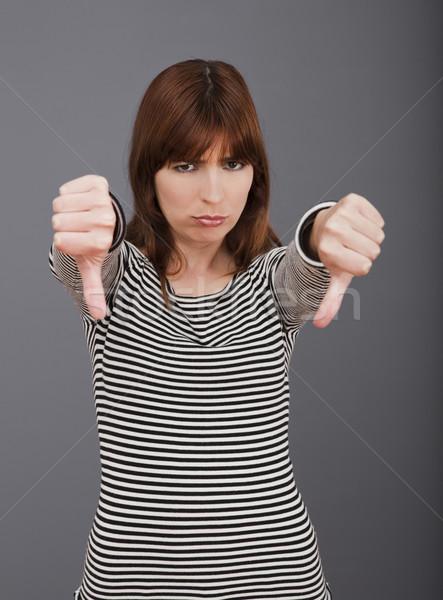 вниз отрицательность большой палец руки Сток-фото © iko