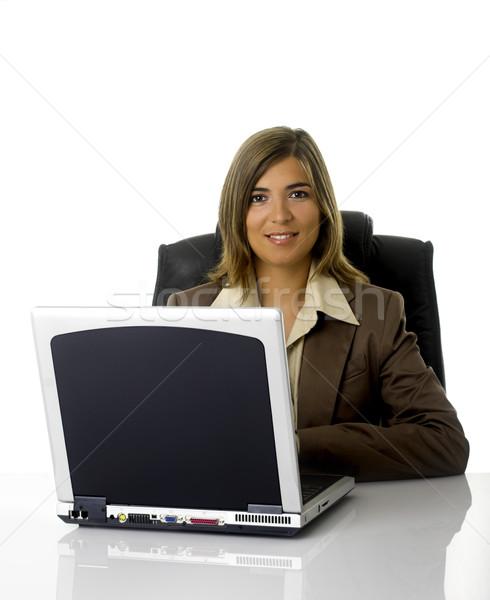 Mulher de negócios trabalhando escritório negócio computador mulher Foto stock © iko