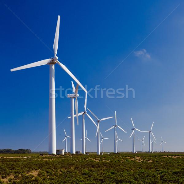 фермы Чистая энергия технологий области промышленных Сток-фото © iko