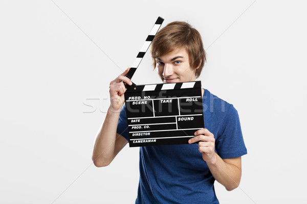 Holding a clapboard Stock photo © iko
