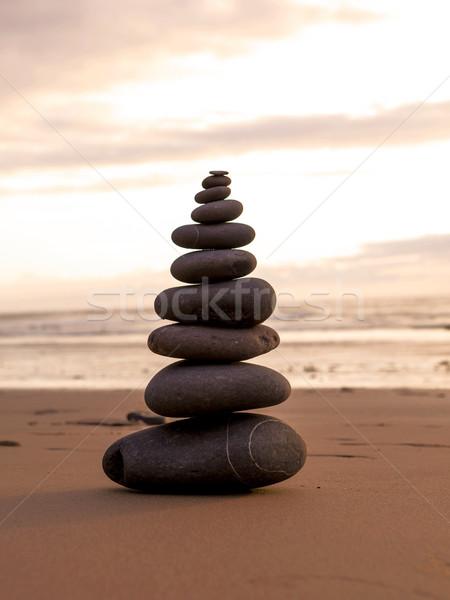 Sea stones stacked Stock photo © iko