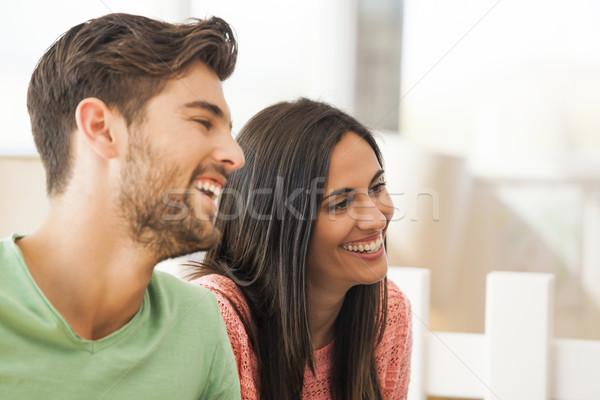 Friends talking Stock photo © iko