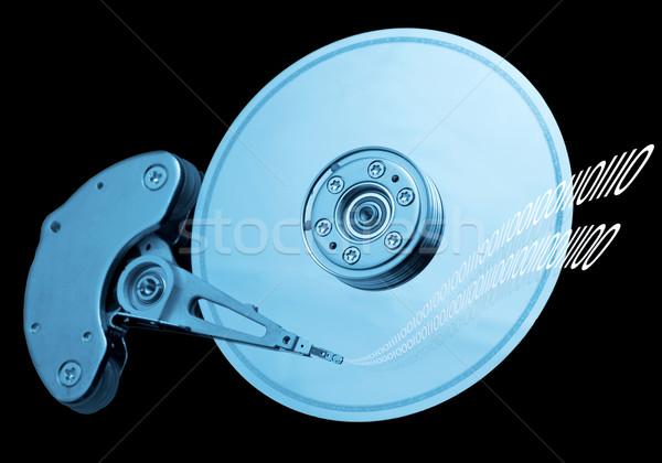 Bilgisayar sabit disk sürmek açmak yazı disk Stok fotoğraf © iko