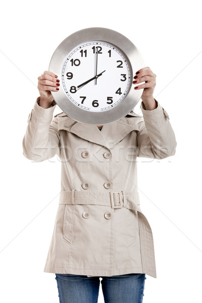 Clock Woman Stock photo © iko