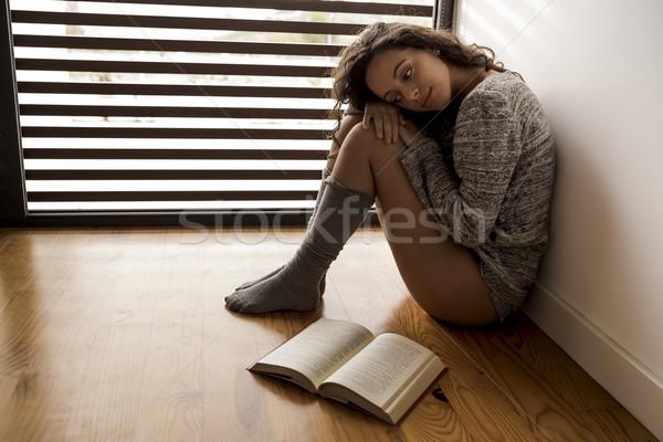 thoughtful young girl Stock photo © iko
