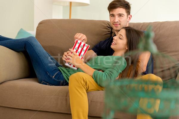 Popcorns and Sofa Stock photo © iko