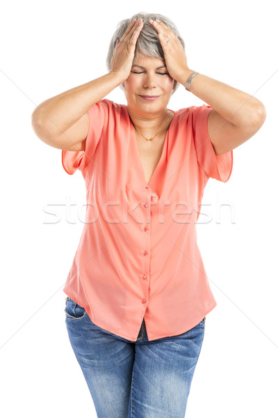 Old woman with a headache Stock photo © iko