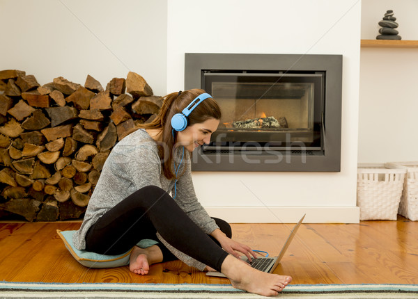 Working at home Stock photo © iko