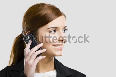 Business woman making phone call Stock photo © iko