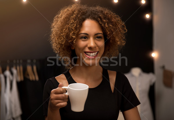 Coffee time on my atelier Stock photo © iko