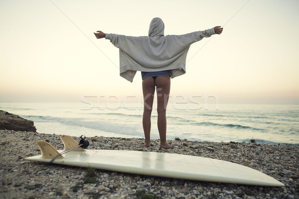 Surfer Girl Stock photo © iko