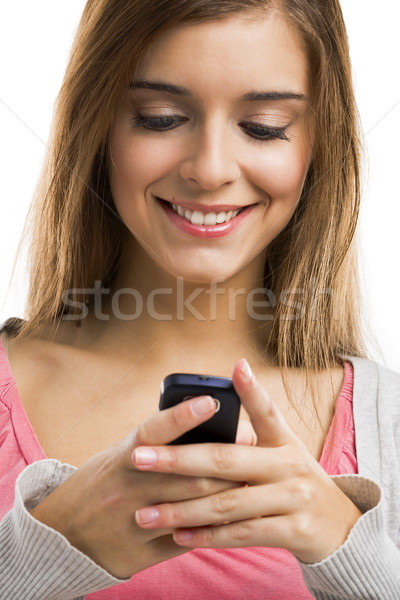 Sms girl  Stock photo © iko