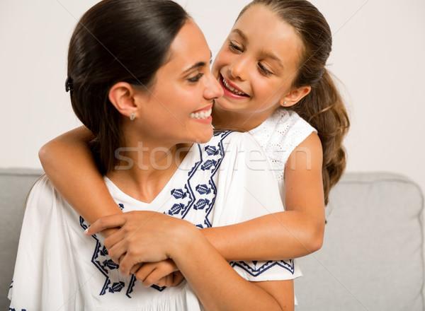 母親 娘 美しい ママ ホーム ストックフォト © iko