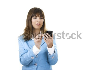 Businesswoman with a Pda Stock photo © iko