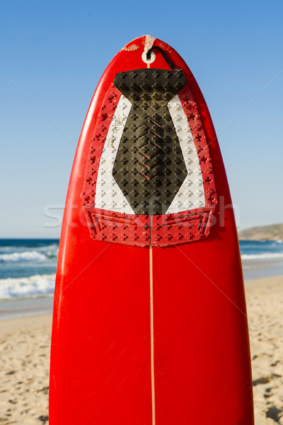 Red surfboard Stock photo © iko