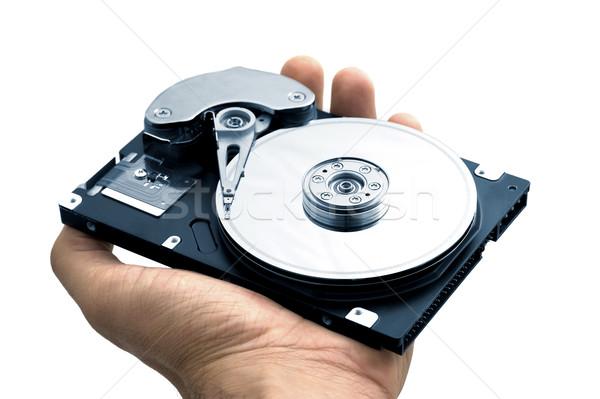 Bilgisayar sabit disk sürmek el açmak Sunucu Stok fotoğraf © iko