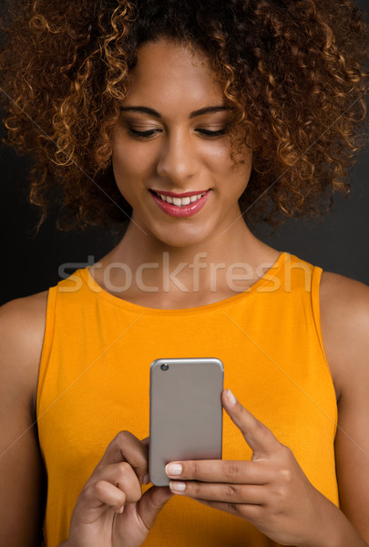 Texting to my friends Stock photo © iko