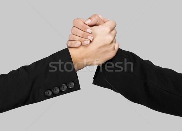 Greeting hands Stock photo © iko