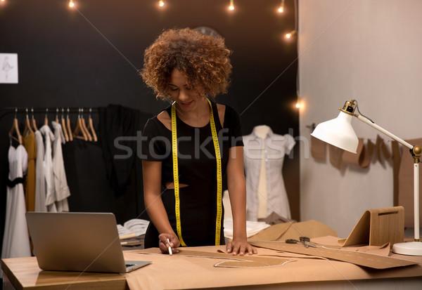 Moda disenador jóvenes de trabajo mujer trabajo Foto stock © iko