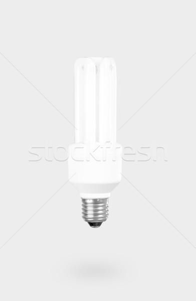 Floresan ampul gri ışık teknoloji mavi Stok fotoğraf © iko