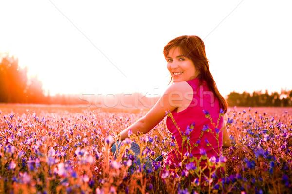 Photo stock: Jouir · de · nature · belle · jeune · femme · séance