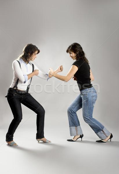 Güzel kadın ikizler iki genç Stok fotoğraf © iko