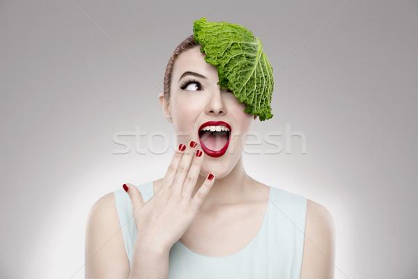 Vegan Girl Stock photo © iko