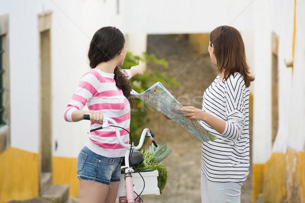 Female tourists Stock photo © iko
