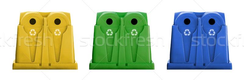 Recycler verre métal plastique papier déchets Photo stock © iko