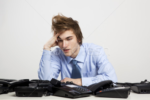 Tired man in the office Stock photo © iko
