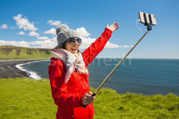 A selfie in Iceland Stock photo © iko