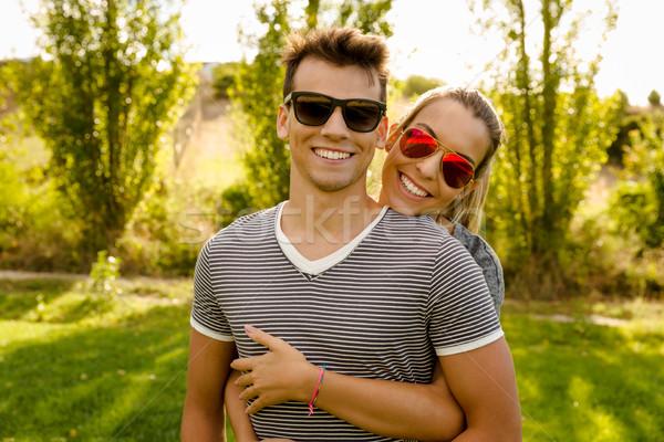 Happy couple Stock photo © iko