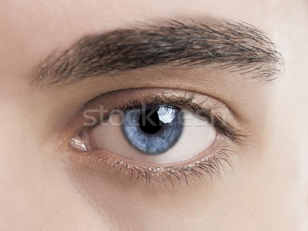 Blu occhi primo piano foto giovane Foto d'archivio © iko