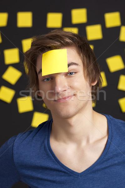 Szükség emlékeztető boldog diák fej több Stock fotó © iko