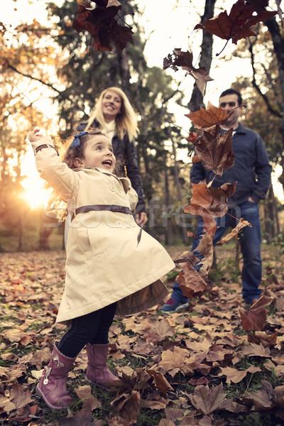 Little girl playing Stock photo © iko