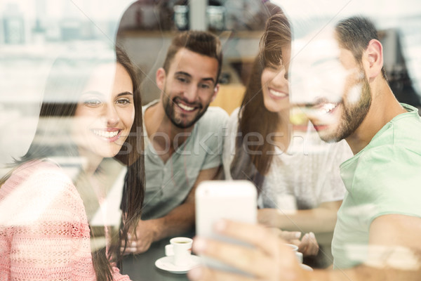 Friends making a selfie Stock photo © iko
