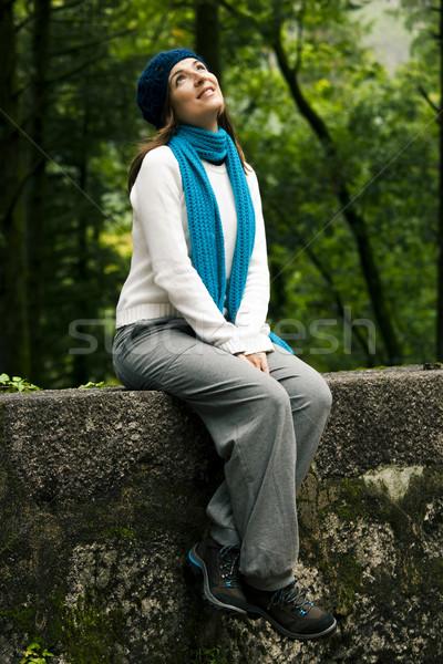 夢のような 女性 美しい 若い女性 座って 少女 ストックフォト © iko