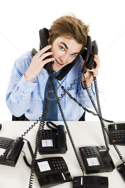 Answering multiple calls at the same time Stock photo © iko